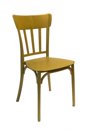 gold straightback chair