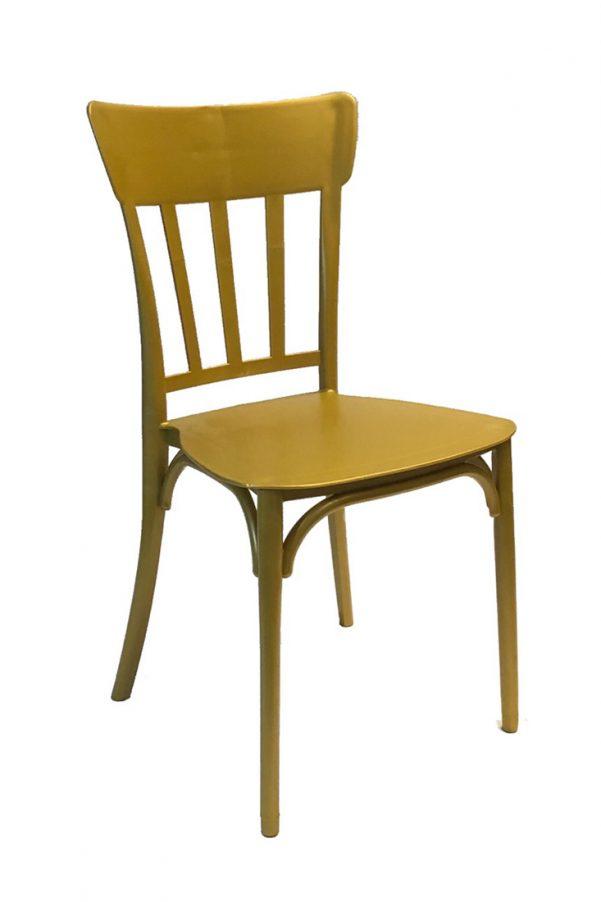 gold straightback chair