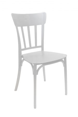 white straightback chair