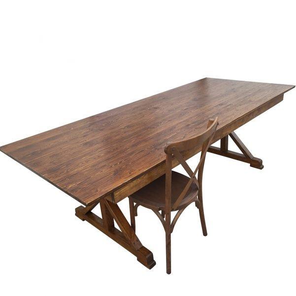 crossleg wood table a