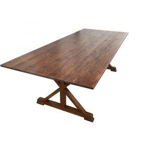 crossleg wood table b