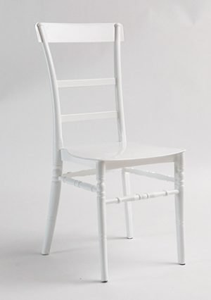 white slatted chair