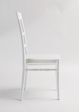 white slatted chair c