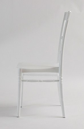 white slatted chair d