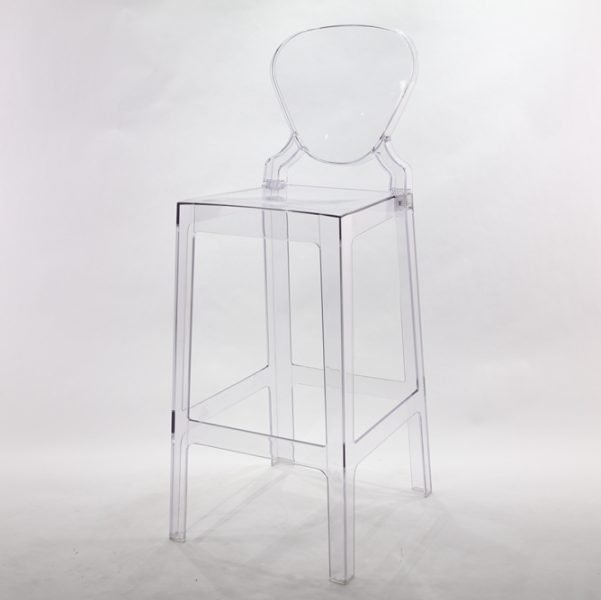 Ghost Chair Barstool with Oval Back