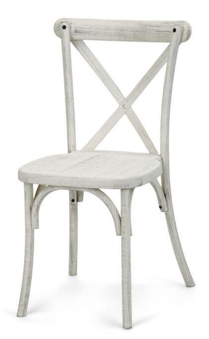 White Distressed Crossback Chair
